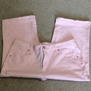 EUC ❤️ pink jeans 5pocket walking shorts size 14P